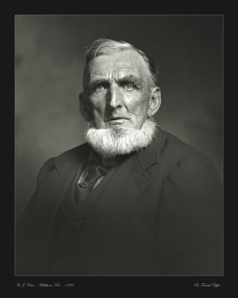 Close portrait photo 1898