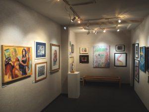 Artist VanDewerker piece Fall Flume at Buena Ventua 2016 Gallery showroom
