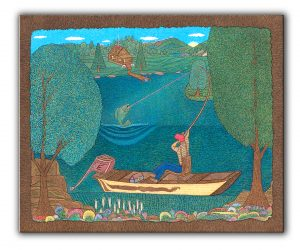 christian folk art, religious wall art, pointillism