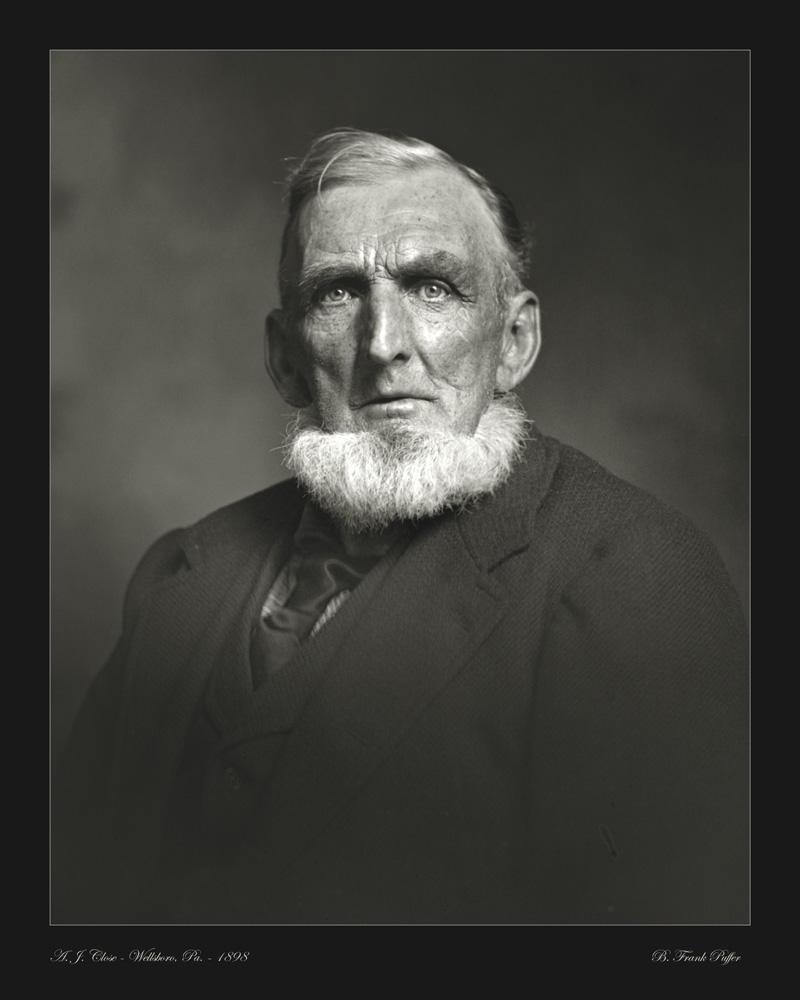 Close portrait photo 1898