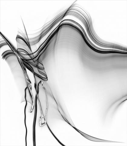 Artist VanDewerker piece Maelstrom at the Civic Arts Center 2017 juried show Black & White Magic